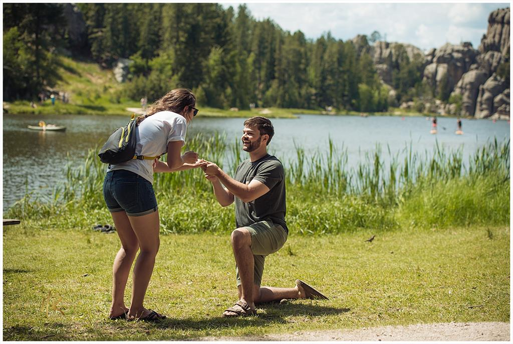Erik Nyberg 12' and Caroline Wermers 15' got engaged to be married on July 2, 2017 at Sylvan Lake, SD.