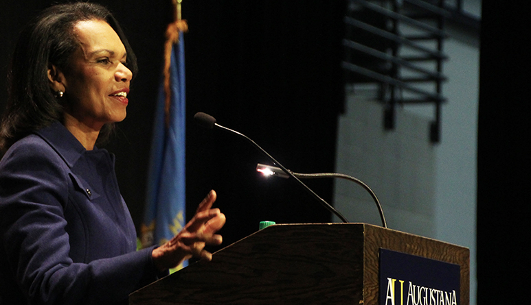 Thousands Visit Campus to Hear Condoleezza Rice Discuss 'America's National Security and the World'