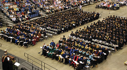 Faculty Recognized at Commencement
