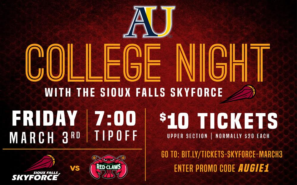 College Night at Sioux Falls Skyforce