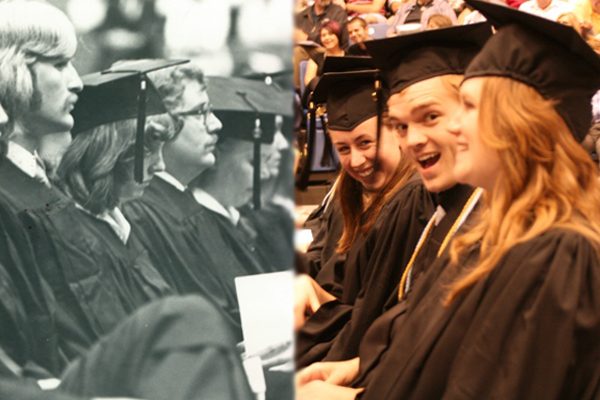 Graduation Then and Now